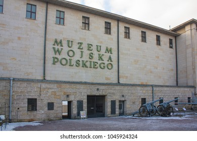 Warsaw, Poland - February 24, 2018: Facade of Museum of Polish Army in Warsaw