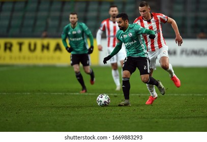 Warsaw, Poland, February 29, 2020: Polish Top League Ekstraklasa football game between Legia Warszawa and Cracovia: