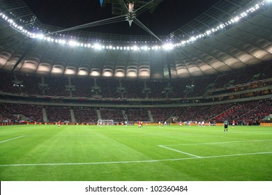 WARSAW, POLAND - FEBRUARY 29: National Stadium in Warsaw, full stands before the friendly football match between Poland vs Portugal on February 29, 2012 in Warsaw, Poland. Final results: 0:0
