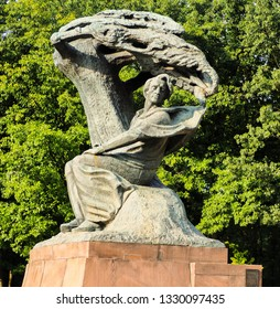 Warsaw, Poland- February 4 2019- Frédéric François Chopin Monument in Lazienki Park