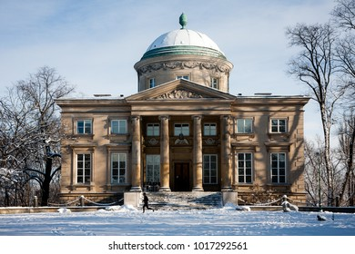 WARSAW, POLAND - JANUARY 16, 2016: Krolikarnia / The Rabbit House in Warsaw, Poland, is also a museum dedicated to sculptor artist Xawery Dunikowski