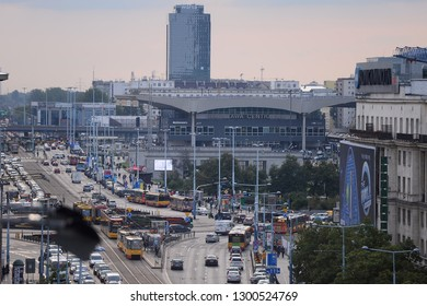 WARSAW, POLAND - JULY 09, 2017: City panorama - Central Station