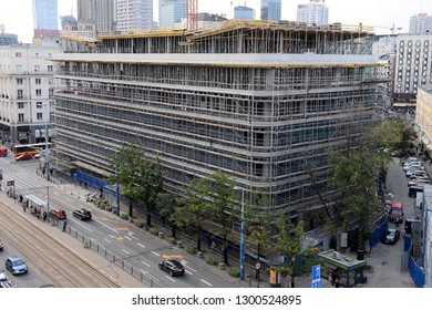 WARSAW, POLAND - JULY 09, 2017: City panorama - SMYK