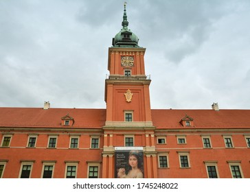WARSAW, POLAND - JULY 1, 2018. Royal Castle in Warsaw, close-up .