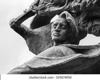 WARSAW, POLAND - JULY 14, 2015: Fryderyk Chopin's (Frederic Chopin) monument in Lazienki Park (Royal Baths Park) in Warsaw, Poland.