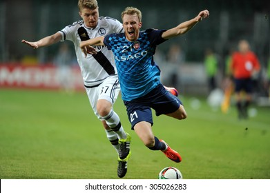 WARSAW, POLAND - JULY 16, 2015: Europa League Qualifications 2-nd round Legia Warsaw Poland - FC Botosani Romania 
