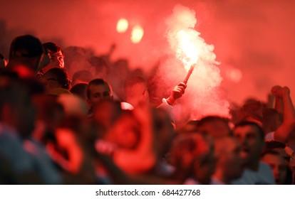 WARSAW, POLAND - JUNE 04, 2017: Extra League Polish Premier Football League Legia Warsaw - Lechia Gdansk o/p: Arkadiusz Malarz of Legia Warszawa