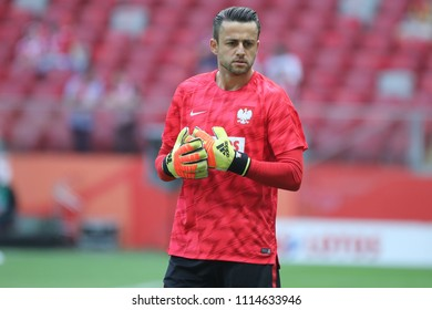 WARSAW, POLAND - JUNE 12, 2018: Friendly football game: Poland - Lithuania o/p Lukasz Fabianski
