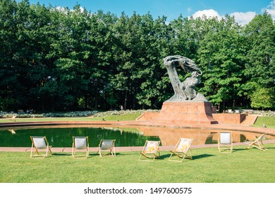Warsaw, Poland - June 14, 2019 : Chopin Monument at Lazienki park
