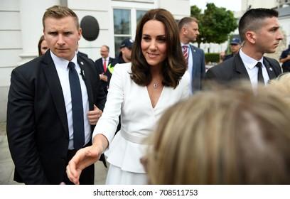 WARSAW, POLAND - JUNE 17, 2017: The Duke and Duchess of Cambridge visit in Polando/p Kate Middleton