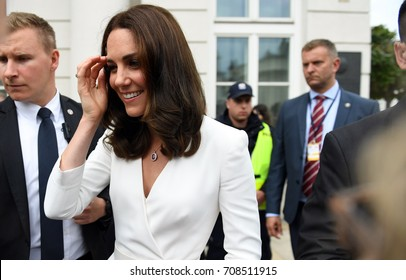 WARSAW, POLAND - JUNE 17, 2017: The Duke and Duchess of Cambridge visit in Poland
