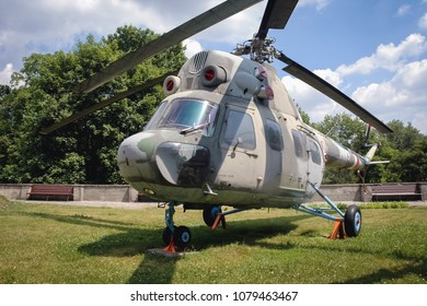 Warsaw, Poland - June 19, 2006: Mil Mi-2 helicopter at open air exhibition in front of Museum of the Polish Army in Warsaw, capital of Poland