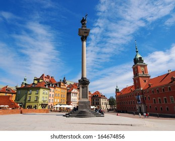 WARSAW,  POLAND - JUNE 6: Unidentified people on the Old Town on June 6, 2012 in Warsaw, Poland. The Old Town reconstructed after II World War is declared UNESCO World Heritage Site.