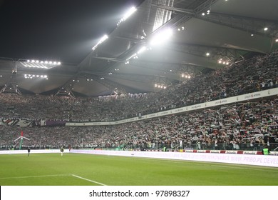 WARSAW, POLAND - MARCH 16: Pepsi Arena stadium during the Warsaw's football derby match between Legia Warsaw vs Polonia Warsaw on March 16, 2012 in Warsaw, Poland. Final results: 0:0