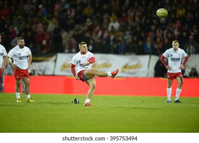 WARSAW, POLAND, MARCH 19,  2016: Inernational rugby game Poland - Belgium Europe Rugby Cup