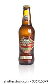 WARSAW, POLAND MARCH 3, 2016: Bottle of Innis & Gunn Oak Aged Beer on a White Background, Illustrative Editorial