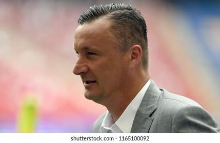 WARSAW, POLAND - MAY 02, 2018: Polish League Cup Final Arka Gdynia vs Legia Warszawao/p: Tomasz Hajto