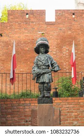 Warsaw, Poland - May 03, 2108: Monument of the Little Insurgent commemorating child soldiers who took part in the Warsaw Uprising 1944