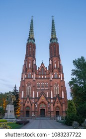 Warsaw, Poland - May 1, 2018: Cathedral of St. Michael the Archangel and St. Florian the Martyr in Warsaw - Poland