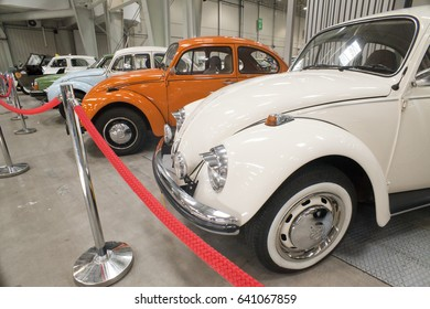 WARSAW, POLAND, May 13: Oldtimer Wolksvagen beetle car on Warsaw Auto Nostalgy fair on May 13, 2017 in Warsaw, Poland.