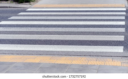 Warsaw, Poland, May 15, 2020: Warsaw during COVID-19 epidemic, zebra crossing - Shutterstock ID 1732757192