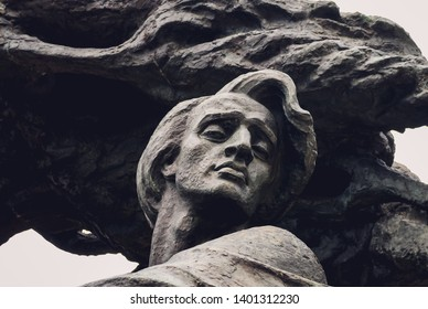 Warsaw, Poland - May 18, 2008: Close up on Frederic Chopin monument in Royal Baths Park, largest public park in Warsaw