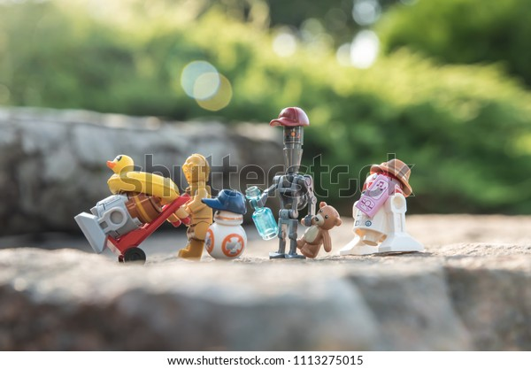 Warsaw Poland May 2018 Lego Minifigures Stock Photo (Edit Now