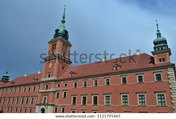 Warsaw / Poland - May 25, 2018: The Royal Castle in Warsaw rebuilt after the Second World War
