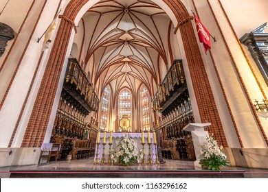 Warsaw, Poland May 30, 2018: Interior of St. John's Archcathedral in Warsaw. Archcathedral Basilica in Warsaw p.w. Martyrdom of Saint John the Baptist. Roman Catholic church in Warsaw's Old Town