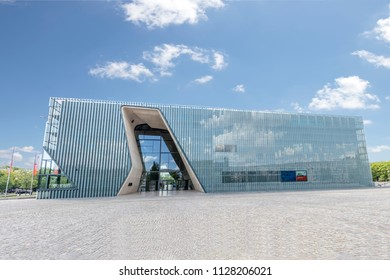Warsaw, Poland May 31, 2018: Museum of the History of Polish Jews 'Polin'