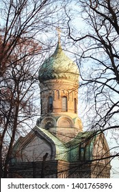 Warsaw, Poland - November 1, 2008: Orthodox Church of Saint John Climacus located inside the Orthodox cemetery in Wola district of Warsaw city