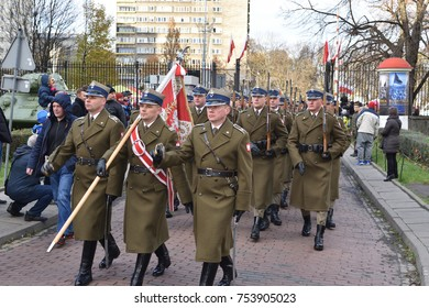WARSAW, POLAND - NOVEMBER 11, 2017: Military parade in Museum of Polish Army, National Independence day of Poland official celebration