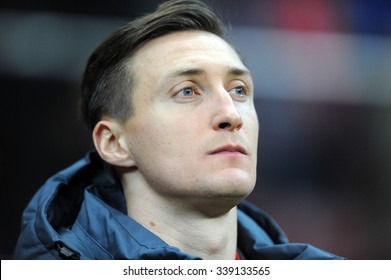 WARSAW, POLAND - NOVEMBER 13, 2015: EURO 2016 European Championship friendly game Poland - Iceland o/p Przemyslaw Tyton