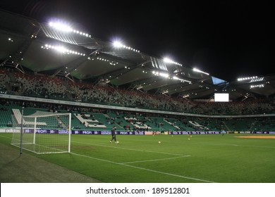 WARSAW, POLAND - November 28: Pepsi Arena Stadium during UEFA Europa League football match between Legia Warsaw and Lazio Rome, on November 28, 2013 in Warsaw, Poland.