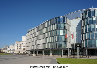 Warsaw, Poland - Oct 6, 2018: The Metropolitan Office Building in Warsaw, Poland