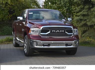 Warsaw, Poland - October, 09, 2017: Pick up truck RAM 1500