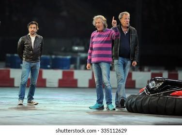 WARSAW, POLAND - OCTOBER 24 2015: VERVA Street Racing Special Editiono/p Richard Hammond Jeremy Clarkson James May