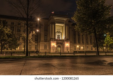 Warsaw, Poland - October 3 2018: the Polish prime ministers office in Warsaw