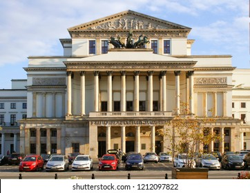 warsaw, Poland - October 5 2018:  The outside of Warsaw Opera Club