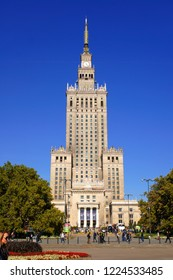 Warsaw, Poland - October 6 2018: The Palace of Science and Culture in Warsaw