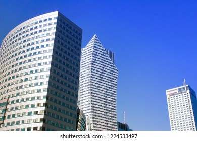 Warsaw, Poland - October 6 2018: Modern buildings in Warsaw