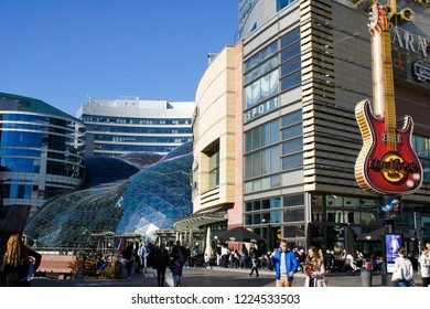 Warsaw, Poland - October 6 2018: The exterior of the Hard Rock cafe in Warsaw on a sunny day