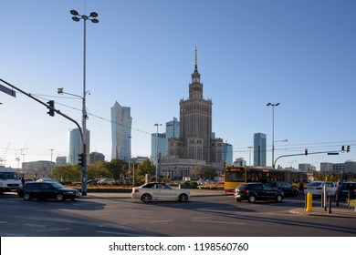 Warsaw, Poland - Sept 30, 2018: Palace of Culture and Science, Warsaw, Poland.