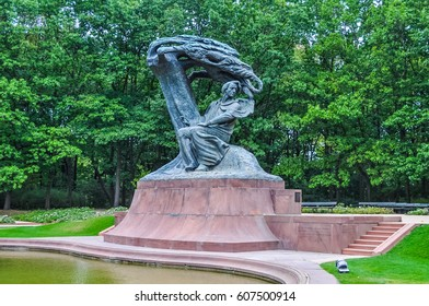 WARSAW, POLAND - SEPTEMBER 02, 2015: High dynamic range (HDR) Frederic Chopin monument in Lazienki Park