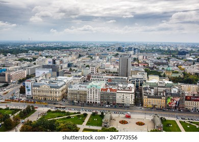 Warsaw, Poland, September 20 2013: view on the cityscape in autumn day