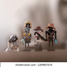 Warsaw, Poland - September 2018 - Lego minifigures droids