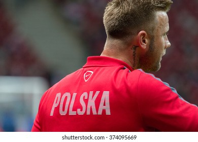 WARSAW, POLAND - SEPTEMBER 7, 2015: Artur Boruc (Poland) before the EURO 2016 qualification match between Poland and Gibraltar at the National Stadium on September 7, 2015 in Warsaw, Poland.