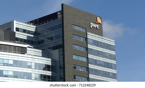 WARSAW, POLAND - SEPTEMBER 8, 2017. PricewaterhouseCoopers PwC office building