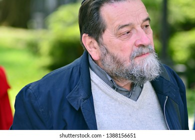 Warsaw, Poland.3 May 2019. Konstanty Gebert polish psychologist of Jewish origin, translator, journalist and academic teacher, since 1989 a publicist of the Gazeta Wyborcza daily.
