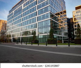 Warsaw, Poland-November 2018: Modern architecture. Modern office building